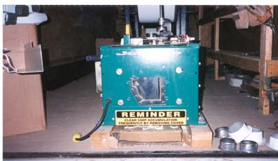 One of our gutter machines